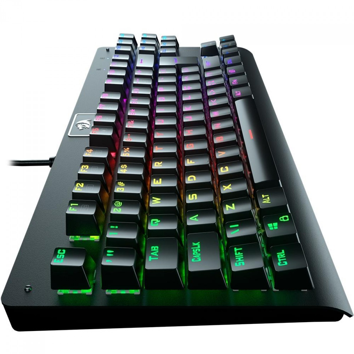 Teclado Mecânico Gamer Redragon Dark Avenger RGB, Switch Outemu Red, ABNT2, Black, K568RGB-2