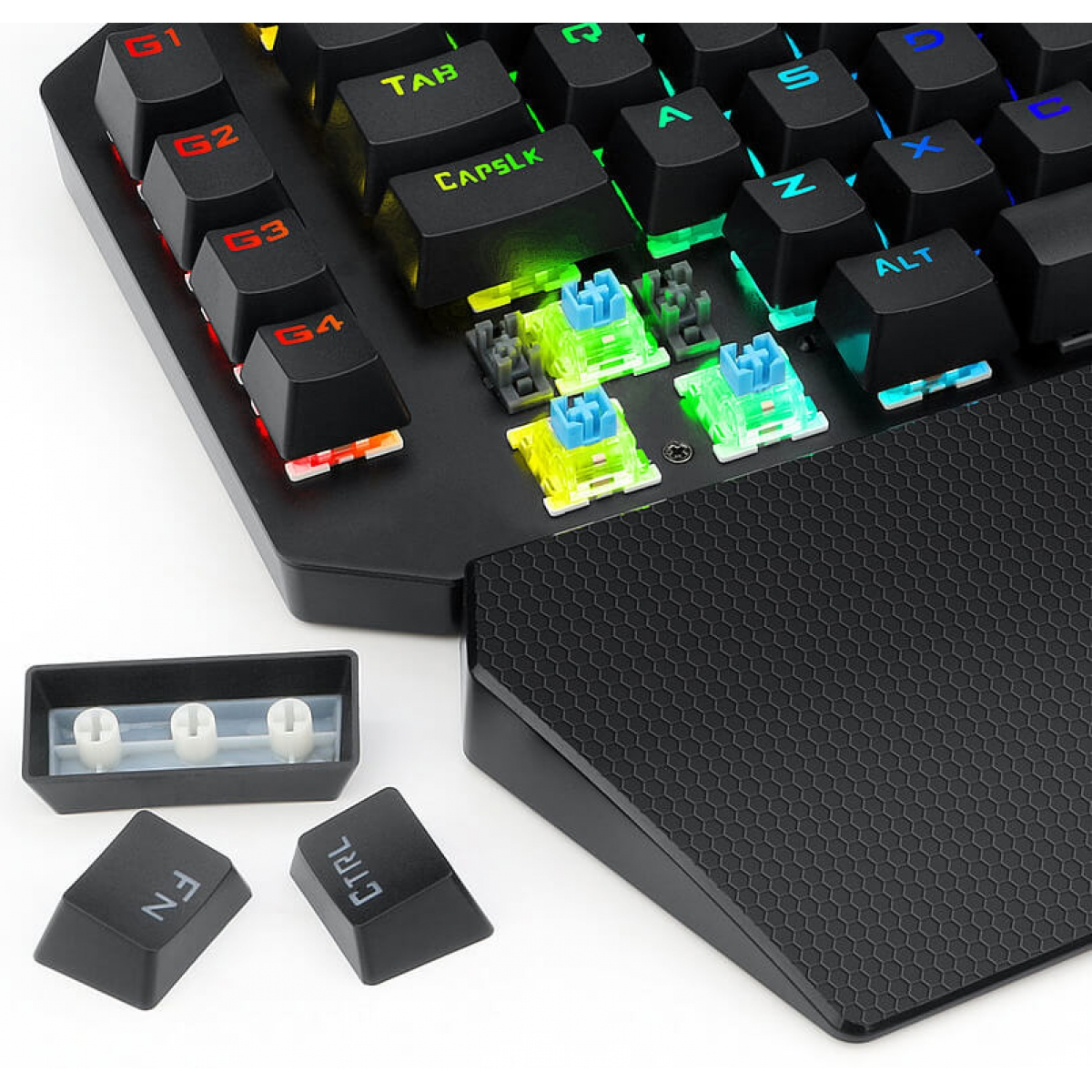 Teclado Mecânico Gamer Redragon IDA K583 RGB, Switch Outemu Blue, Black