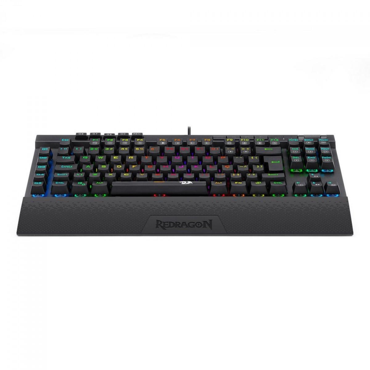 Teclado Mecânico Gamer Redragon K587 Magic Wand Pro, RGB, Switch Brown, Black, ABNT, K587RGB-PRO (PT-BROWN)