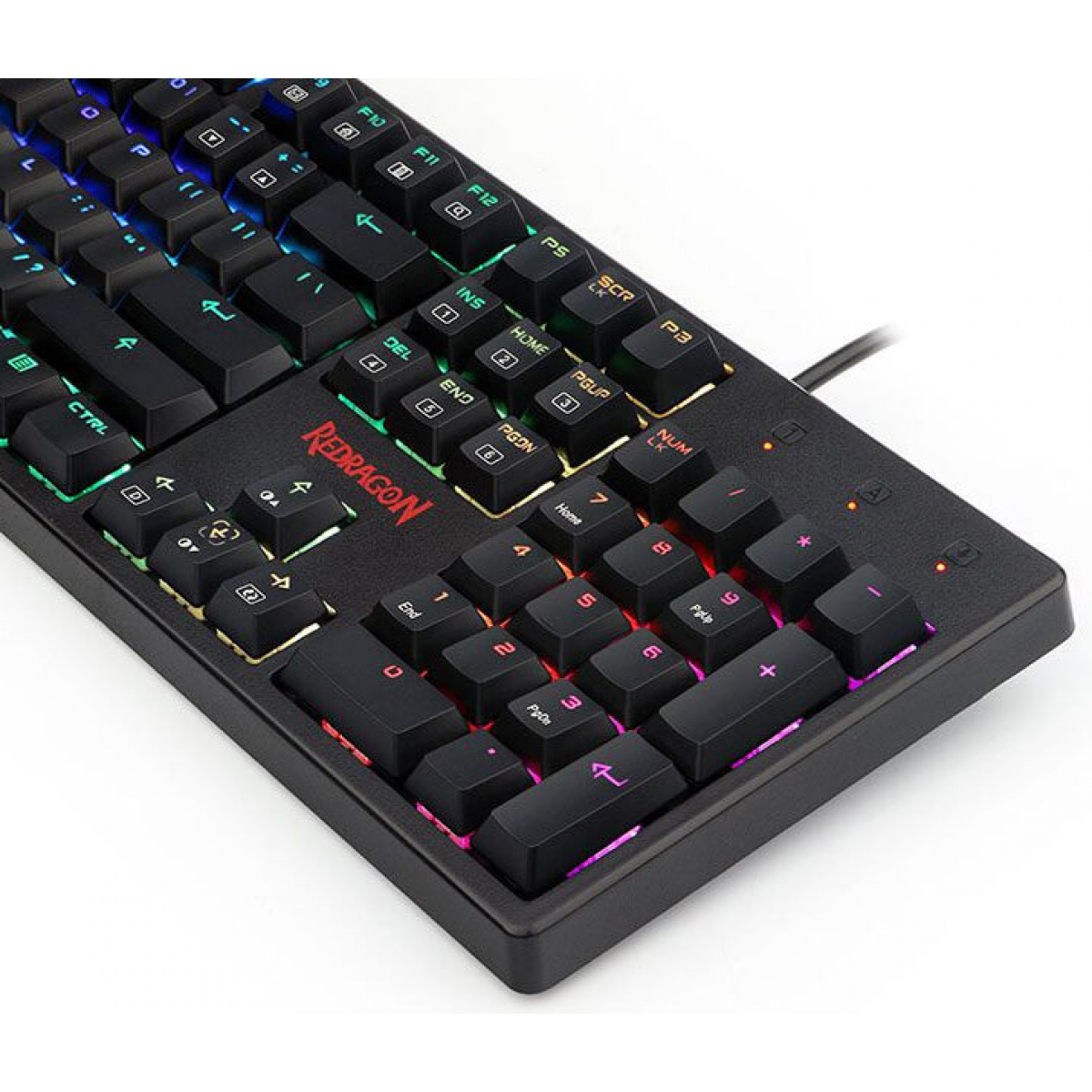 Teclado Mecânico Gamer Redragon Kama Switch Brown K578 RGB, Black - Open Box