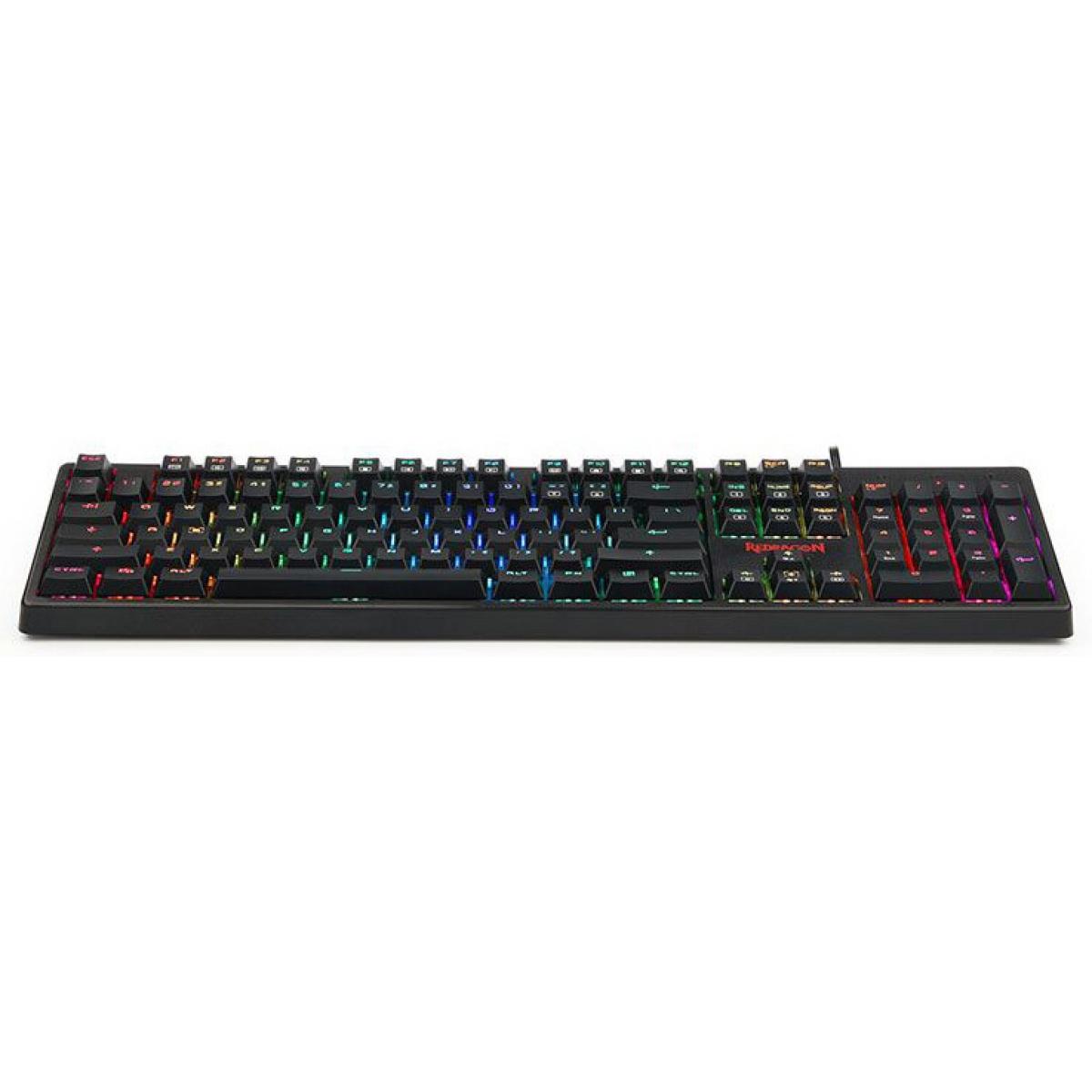 Teclado Mecânico Gamer Redragon Kama, Switch Brown K578 RGB, Black