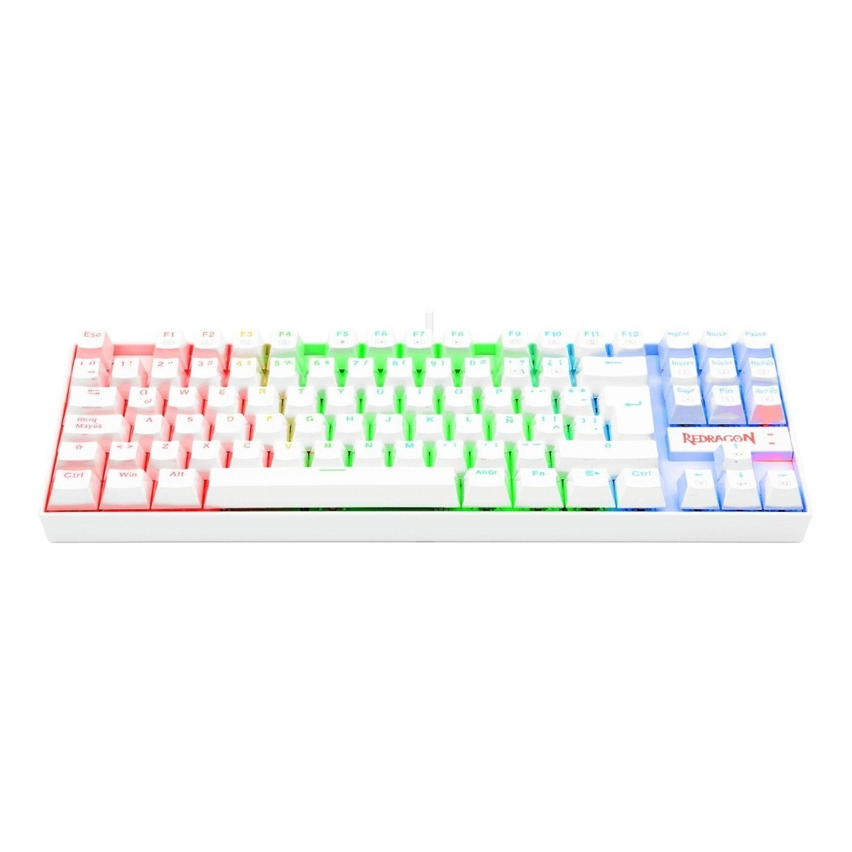 Teclado Mecânico Gamer Redragon Kumara Lunar K552, RGB, Switch Brown, ABNT2, White, K552W-RGB (PT-BROWN)