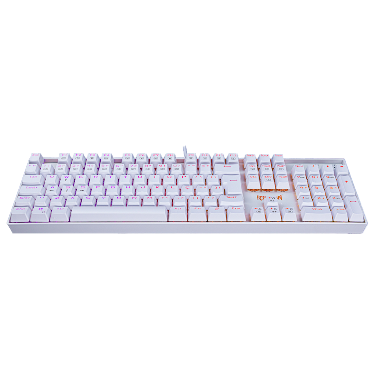Teclado Mecânico Gamer Redragon Mitra Lunar K551W, RGB, Switch Red, ABNT2, White, K551W-RGB (PT-RED)