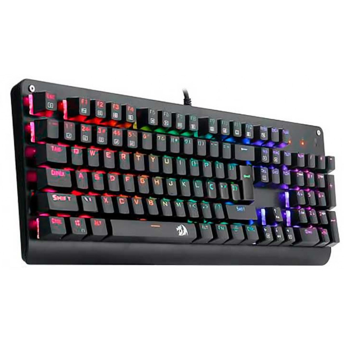 Teclado Mecânico Gamer Redragon Sani, Switch Blue, Led RGB, ABNT2, Black, K581RGB
