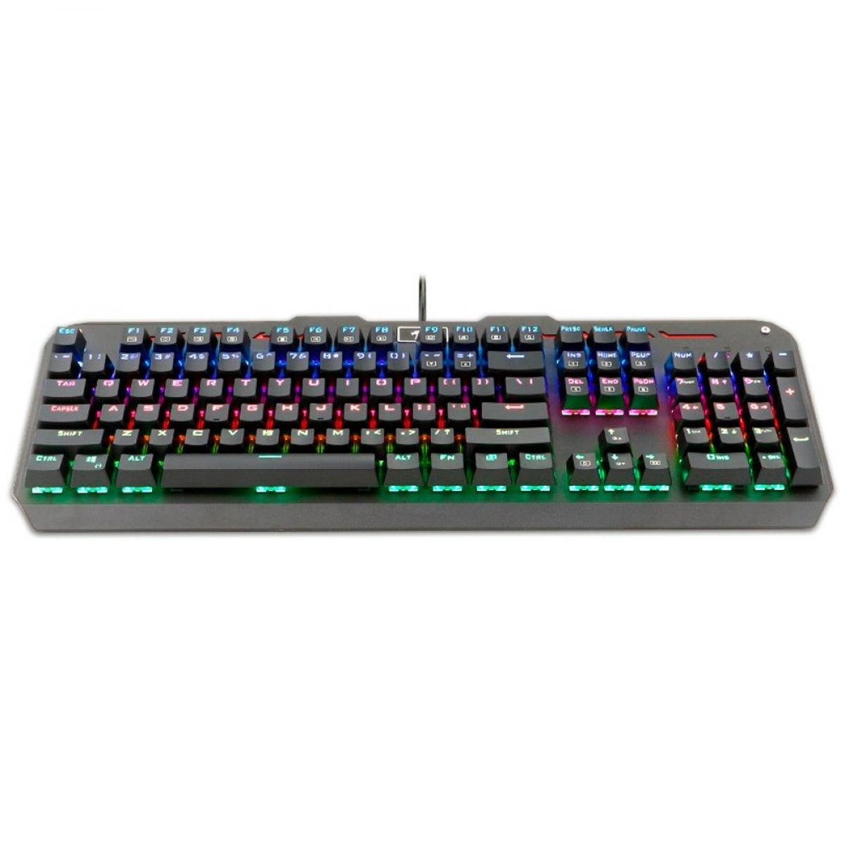 Teclado Mecânico Gamer Redragon Varuna K559 RGB, Switch Blue, ABNT2, Black