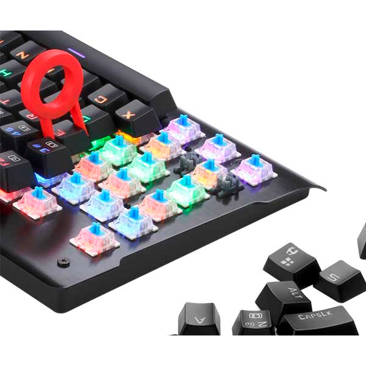 Teclado Mecânico Gamer Redragon Visnu K561 RGB, Switch Blue, ABNT2, Black