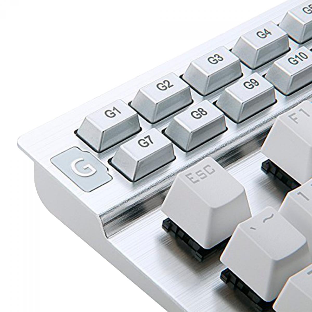 Teclado Mecânico Gamer Redragon Yama, RGB, Switch Purple, White, K550W-RGB-1