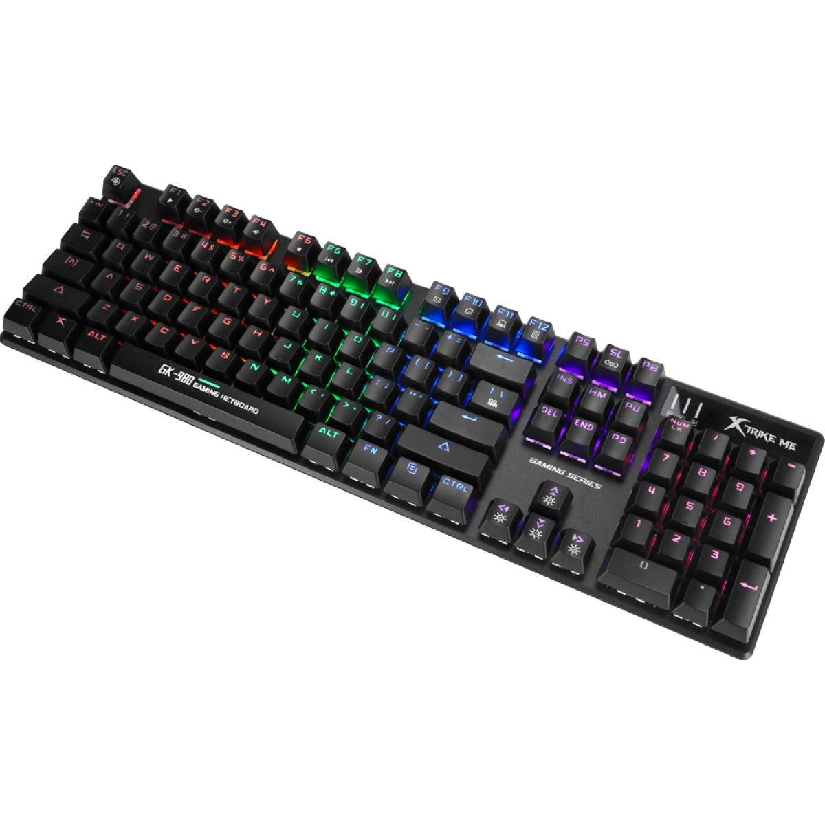 Teclado Mecânico Gamer Xtrike-Me GK-980, Rainbow, Switch Blue