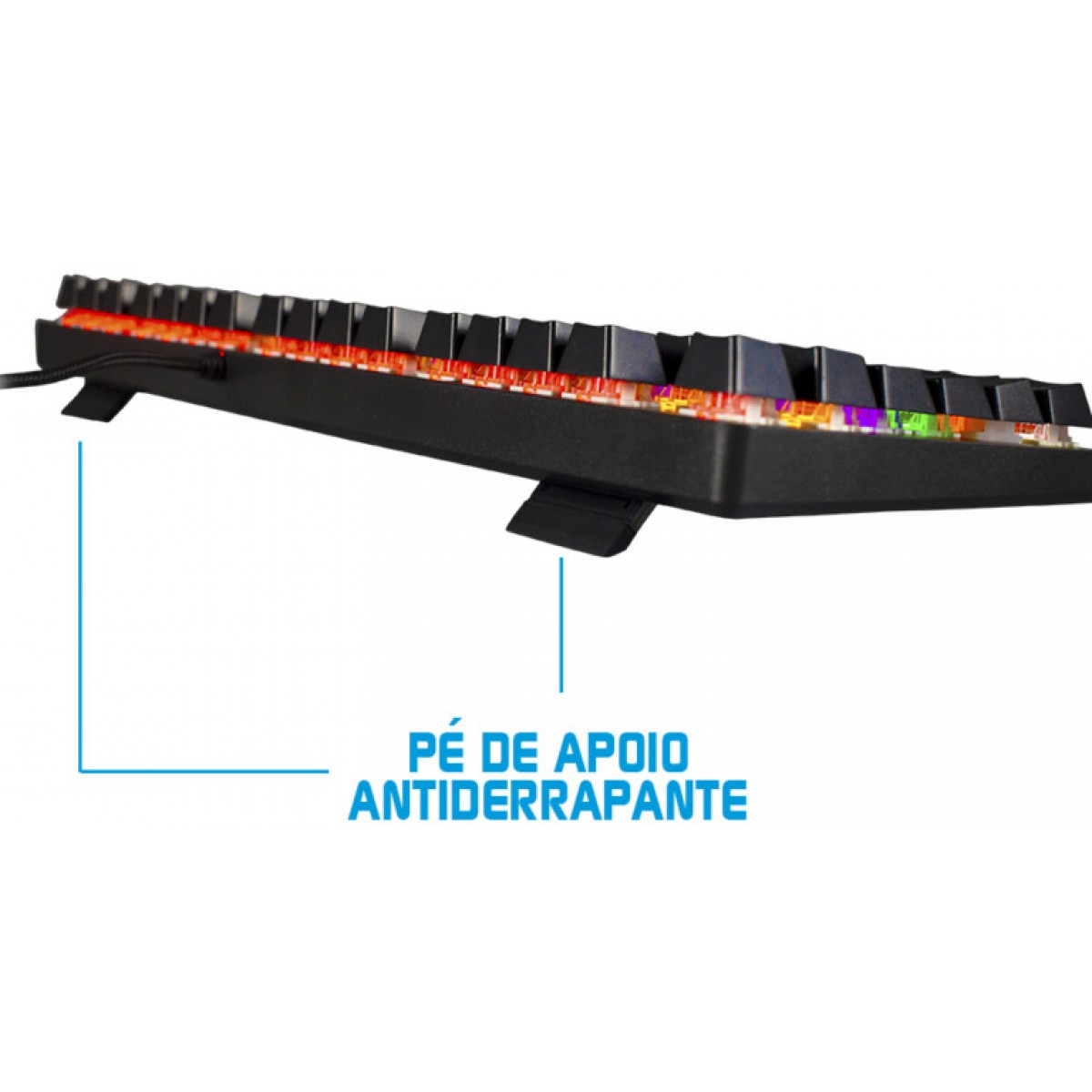 Teclado Mecânico Hoopson RGB, Switch Outemu Blue, ABNT-2, Black, MJ90