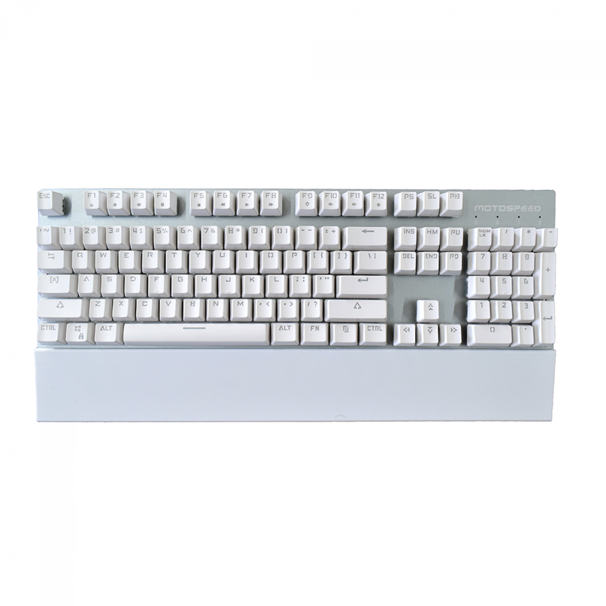 Teclado Mecanico MotoSpeed GK89 White, Wireless, Switch Blue, LED Blue, FMSTC0078BRO
