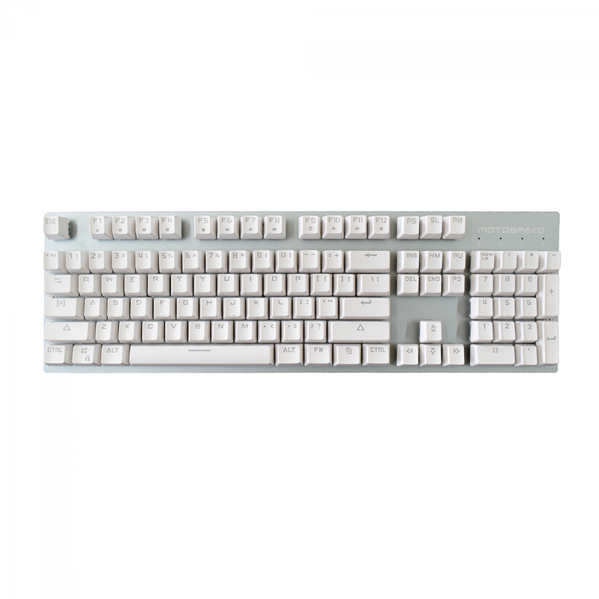 Teclado Mecanico MotoSpeed GK89 White, Wireless, Switch Red, LED Blue, FMSTC0033VEM