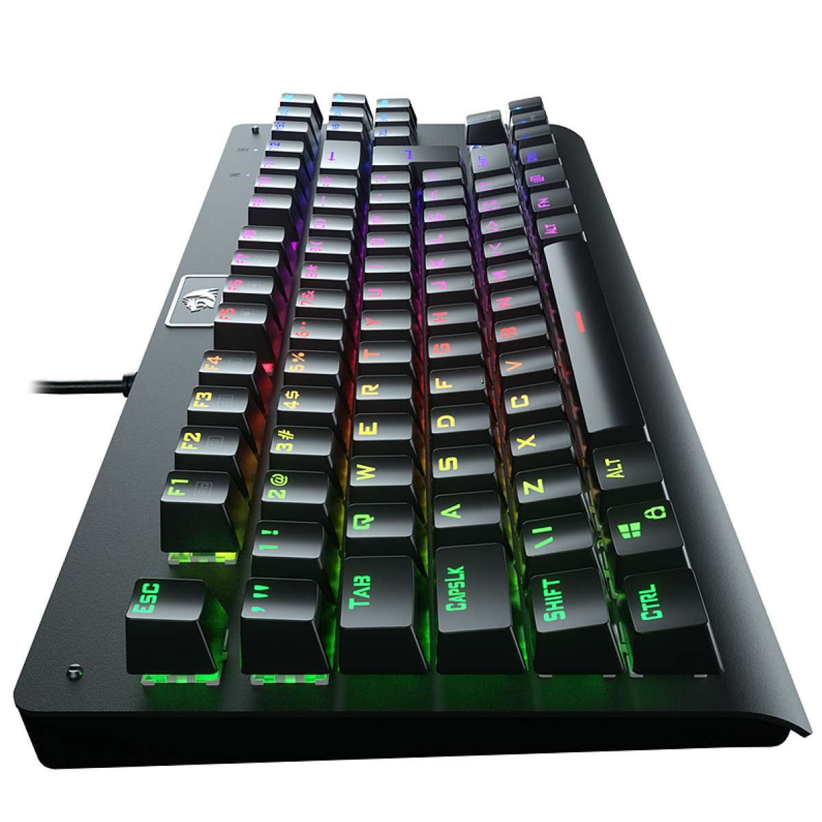 Teclado Mecânico ReDragon, Dark Avenger, RGB, ABNT2, Black, Switch Blue, K568-1