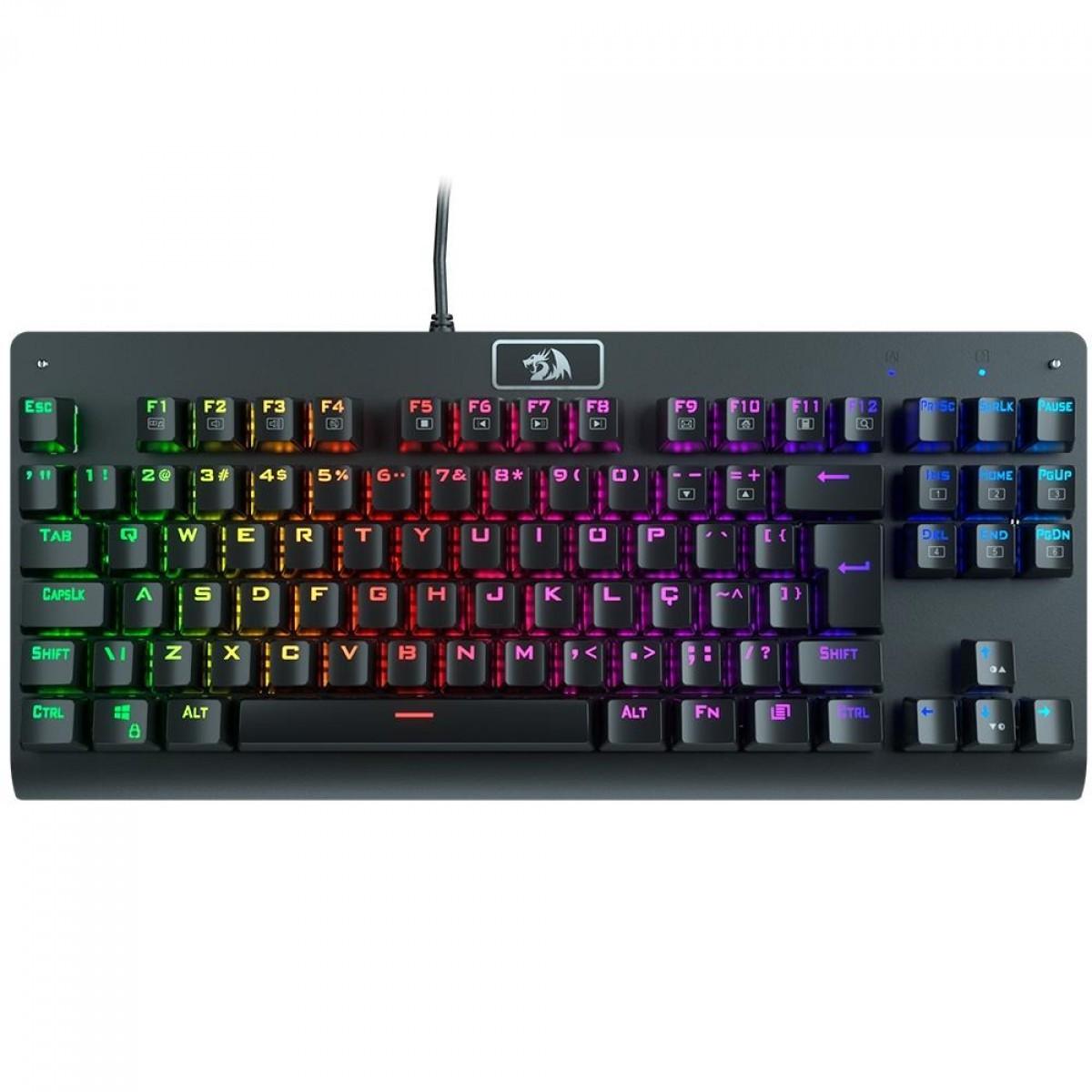 Teclado Mecânico Redragon Dark Avenger, RGB, ABNT2, Switch Outemu Blue, K568RGB-2 PT-BLUE
