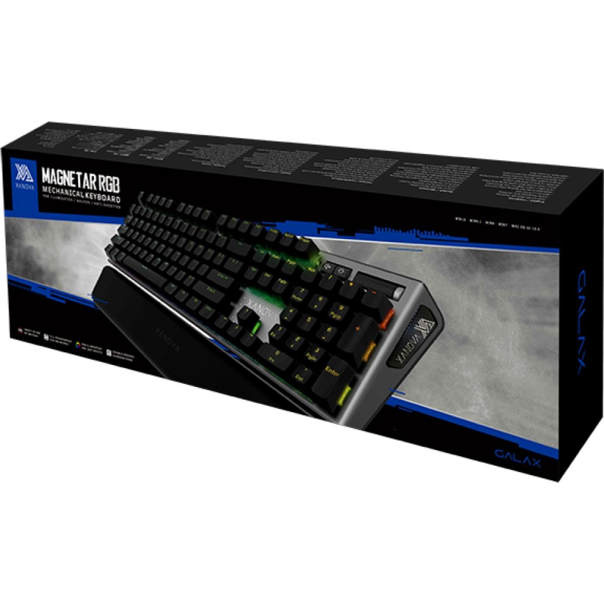 Teclado Mecânico Xanova Magnetar RGB XK700 Gray, Switch Brown ABNT-2