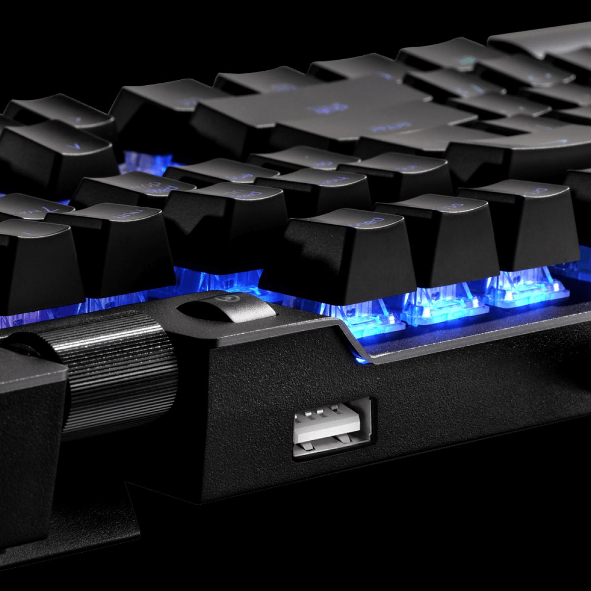 Teclado Mecânico XPG, Summoner, RGB, Switch Cherry MX RGB Blue, ANSI, Black, SUMMONER4B-BKCWW