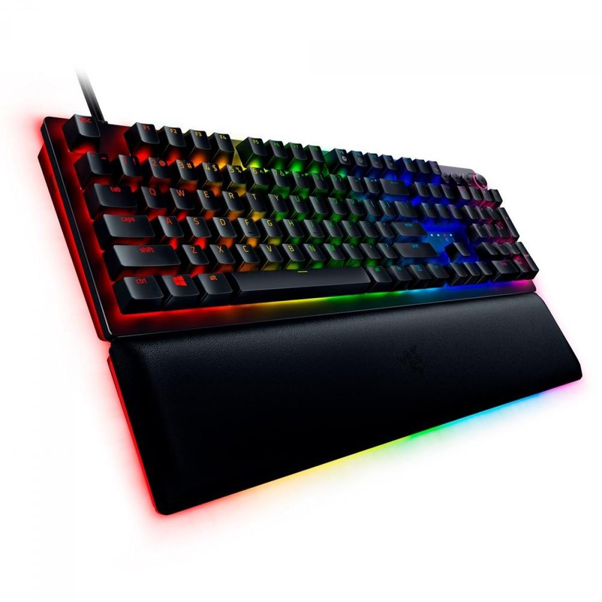 Teclado Óptico Gamer Razer Huntsman V2, Chroma RGB, Razer Switch Analog, US, RZ03-03610200-R3U1