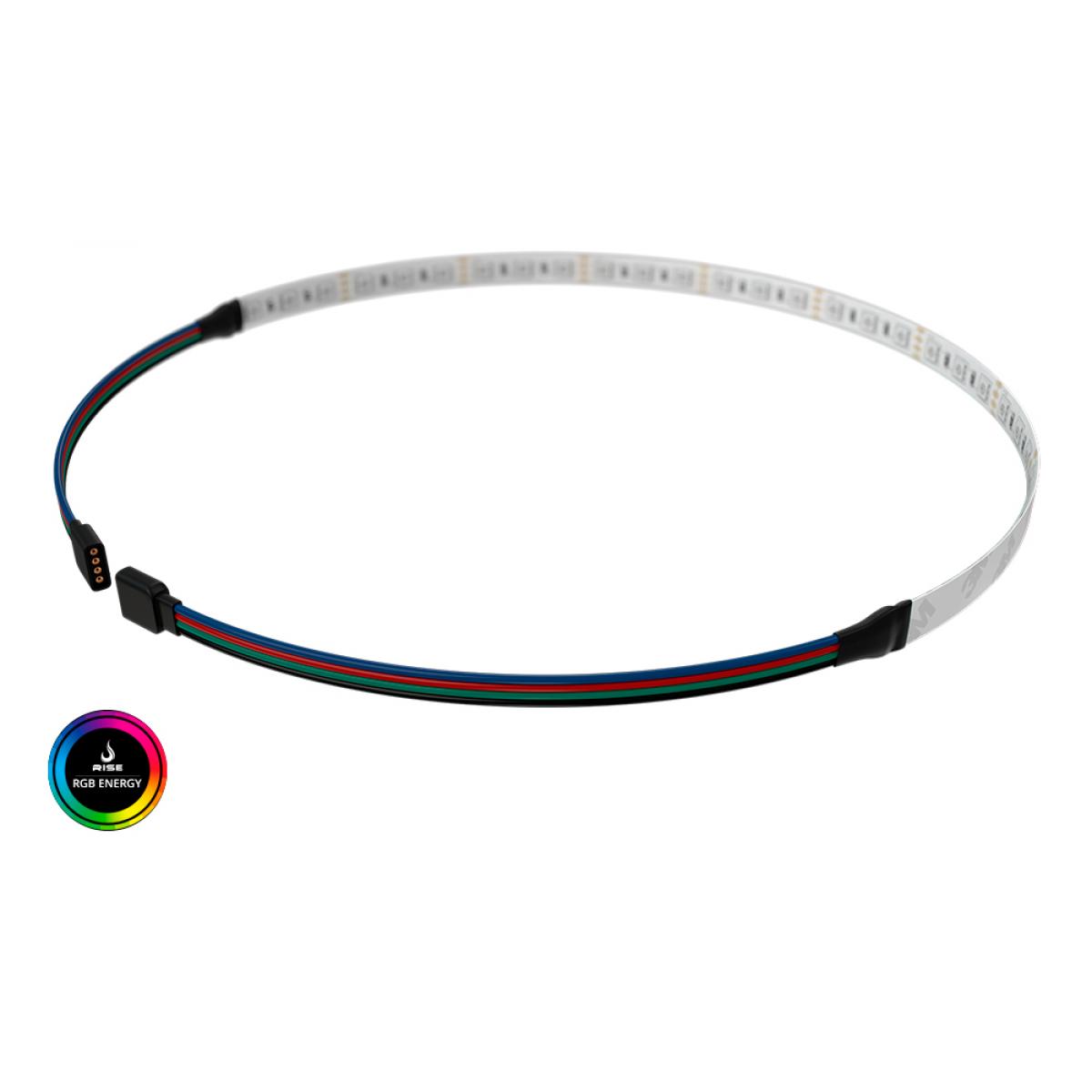 Tira de Led Rise Mode para Gabinete 50cm RGB Placa Mãe RM-TL-01-RGB