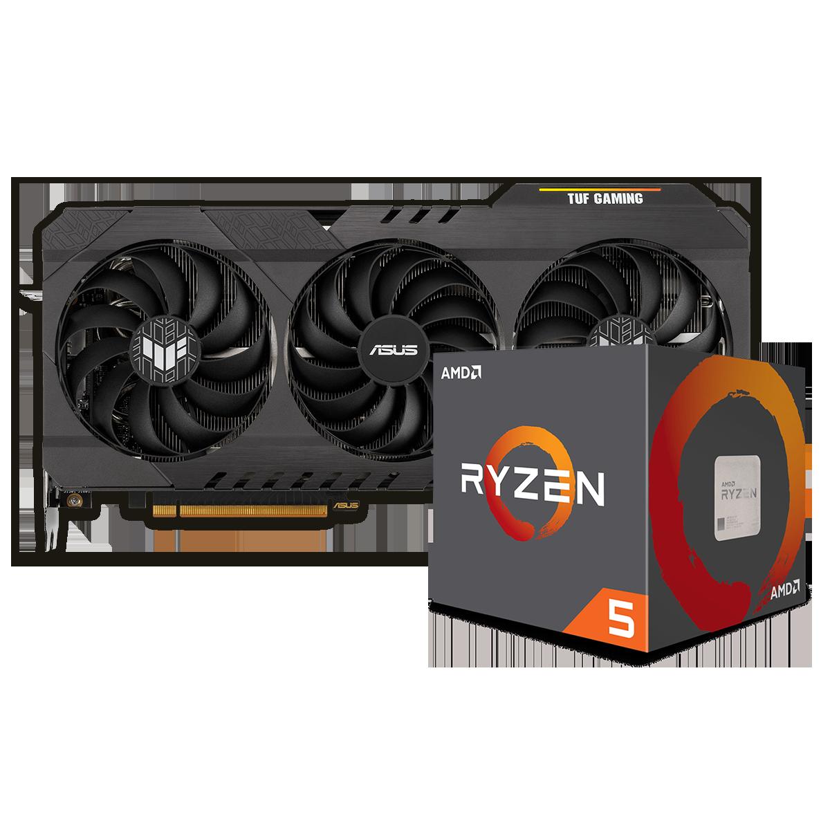 Kit Upgrade ASUS TUF Gaming Radeon RX 6700 XT OC + AMD Ryzen 5 5600X