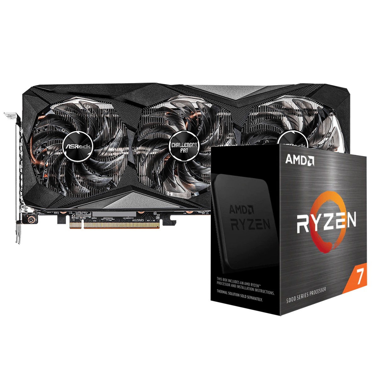 Kit Upgrade ASRock Radeon RX 6700 XT Challenger Pro OC + AMD Ryzen 7 5800X