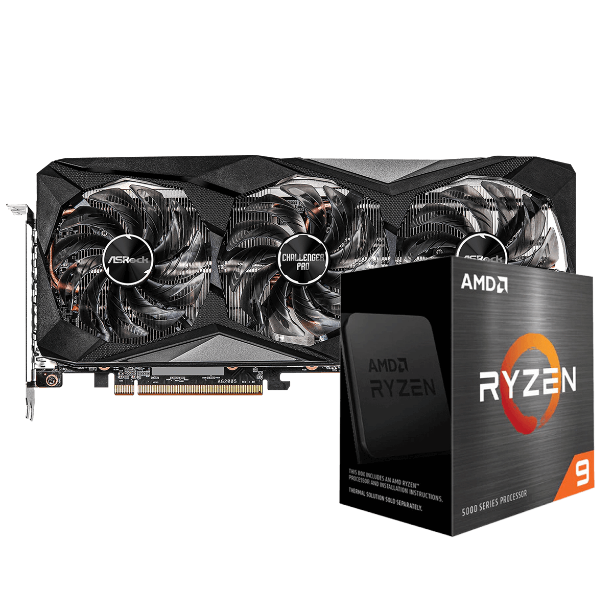 Kit Upgrade ASRock Radeon RX 6700 XT Challenger Pro OC + AMD Ryzen 9 5900X