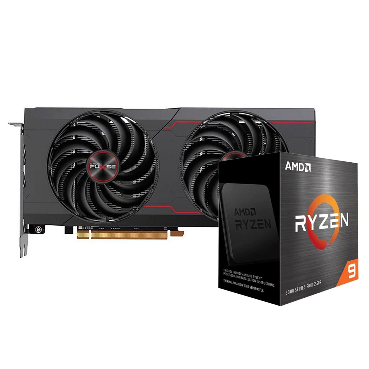 Kit Upgrade Sapphire Pulse Radeon RX 6700 XT + AMD Ryzen 9 5900X