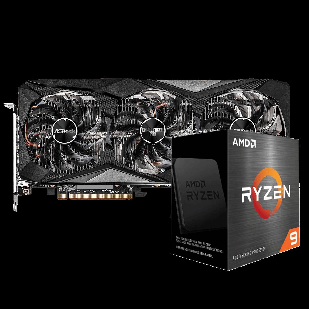Kit Upgrade ASRock Radeon RX 6700 XT Challenger Pro OC + AMD Ryzen 9 5950X