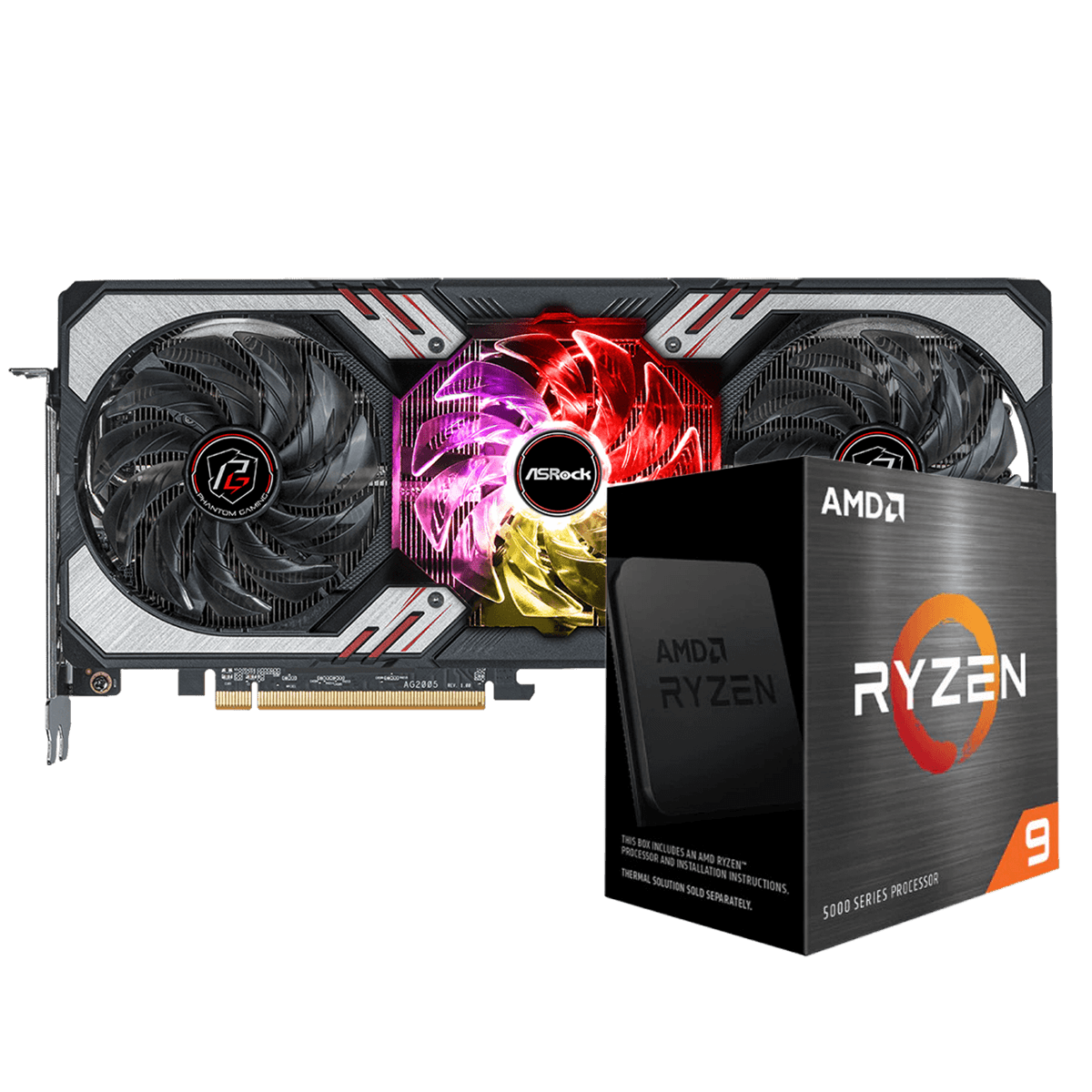 Kit Upgrade ASRock Radeon RX 6700 XT Phantom Gaming D OC + AMD Ryzen 9 5950X