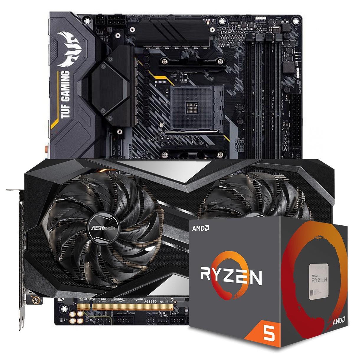 Kit Upgrade ASRock Radeon RX 6700 XT Challenger + AMD Ryzen 5 5600X + ASUS TUF Gaming X570-Plus