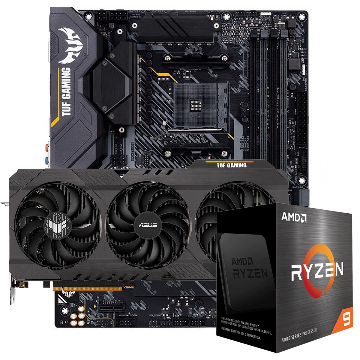 Kit Upgrade ASUS TUF Gaming Radeon RX 6700 XT OC + AMD Ryzen 9 5900X + ASUS TUF Gaming X570-Plus