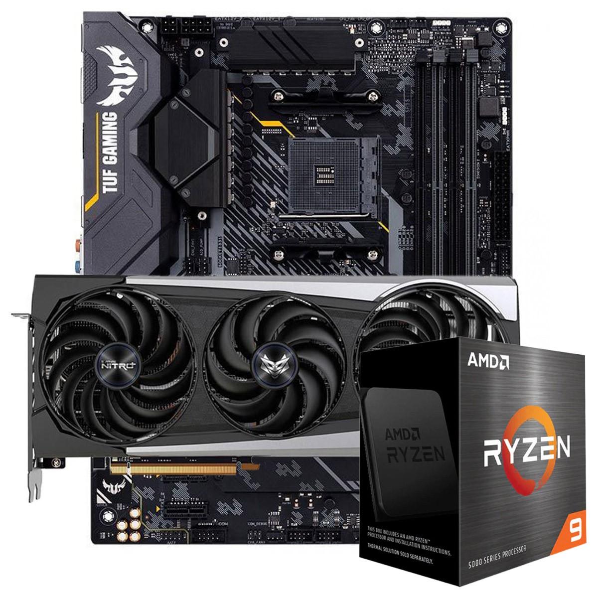 Kit Upgrade Sapphire Radeon RX 6700 XT + AMD Ryzen 9 5900X + ASUS TUF Gaming X570-Plus