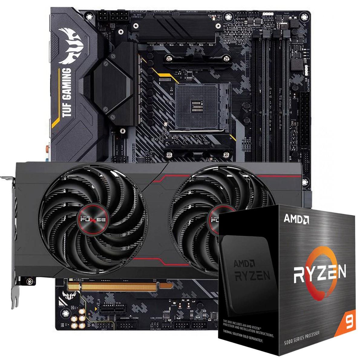 Kit Upgrade Sapphire Pulse Radeon RX 6700 XT + AMD Ryzen 9 5900X + ASUS TUF Gaming X570-Plus