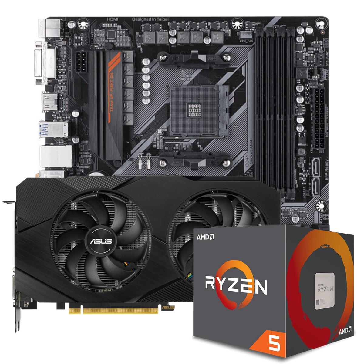 Kit Upgrade ASUS GeForce RTX 2060 OC EVO Dual + AMD Ryzen 5 5600X + Gigabyte B450 AORUS M