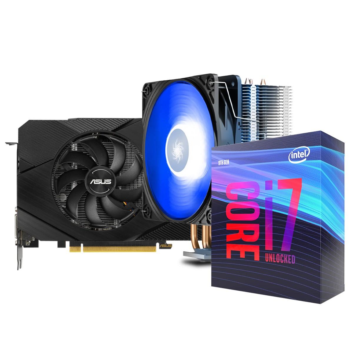 Kit Upgrade ASUS GeForce RTX 2060 OC EVO Dual + Intel Core i7 9700KF + Brinde Cooler
