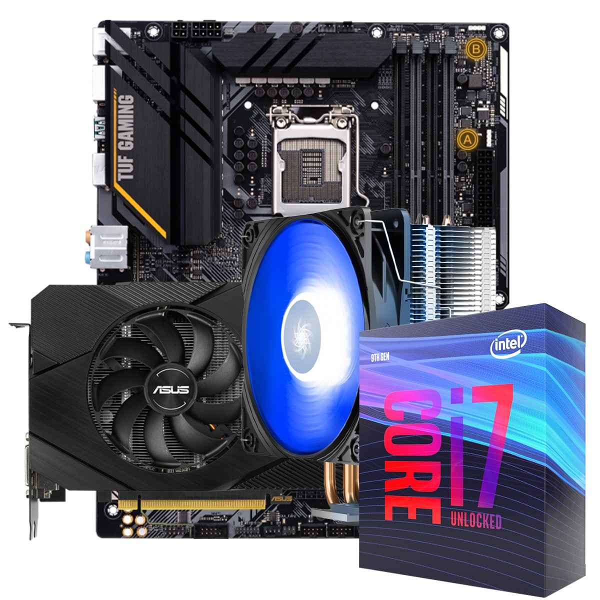 Kit Upgrade ASUS GeForce RTX 2060 OC EVO Dual + Intel Core i7 10700KF + ASUS Z490-Plus TUF Gaming + Brinde Cooler
