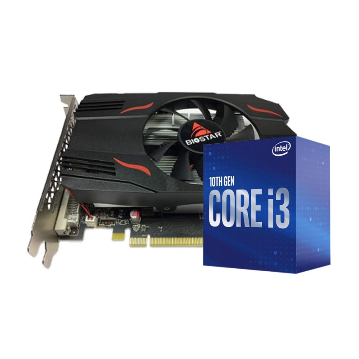 Kit Upgrade Biostar Radeon RX 550 4GB + Intel Core i3 10105F
