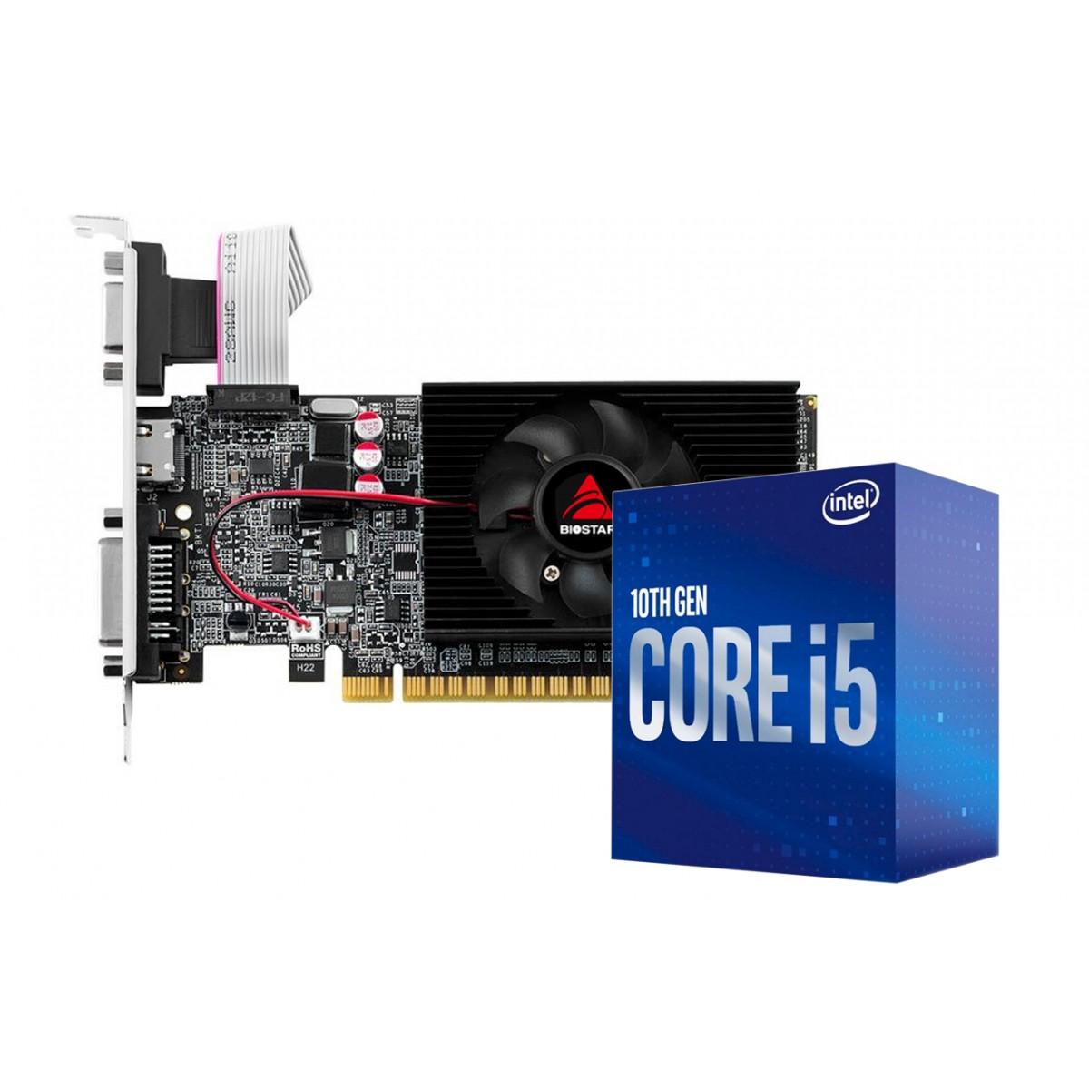 Kit Upgrade Biostar NVIDIA GeForce GT 710 2GB + Processador Intel Core i5 10400F