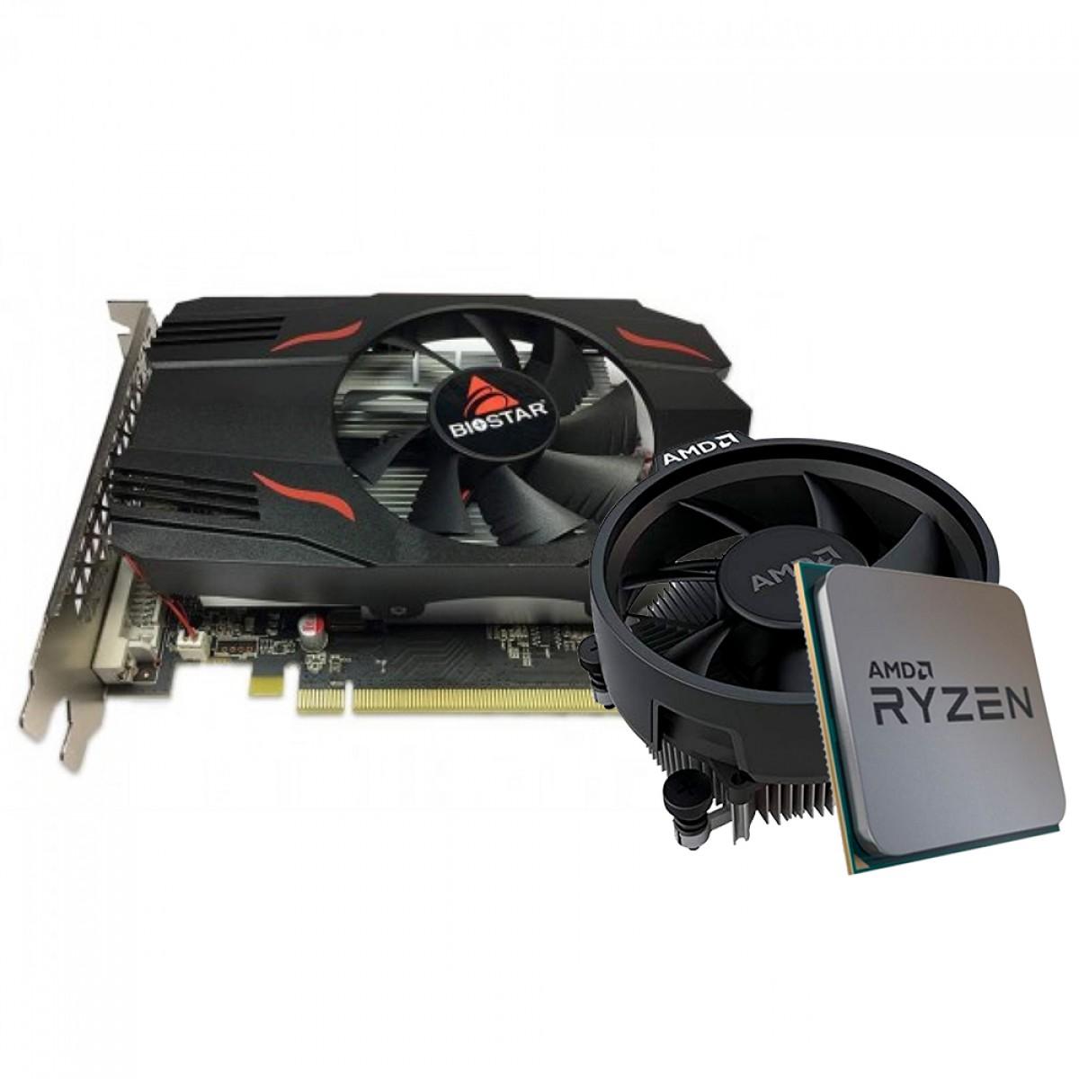 Kit Upgrade Biostar Radeon RX 550 2GB + AMD Ryzen 5 3500