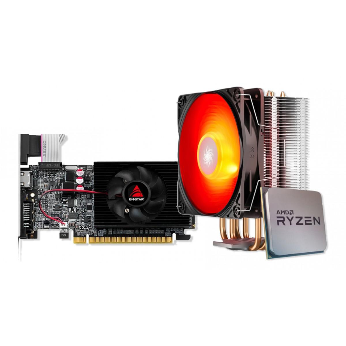 Kit Upgrade  Biostar GeForce GT 710 + Ryzen 3 3300X + Brinde Cooler