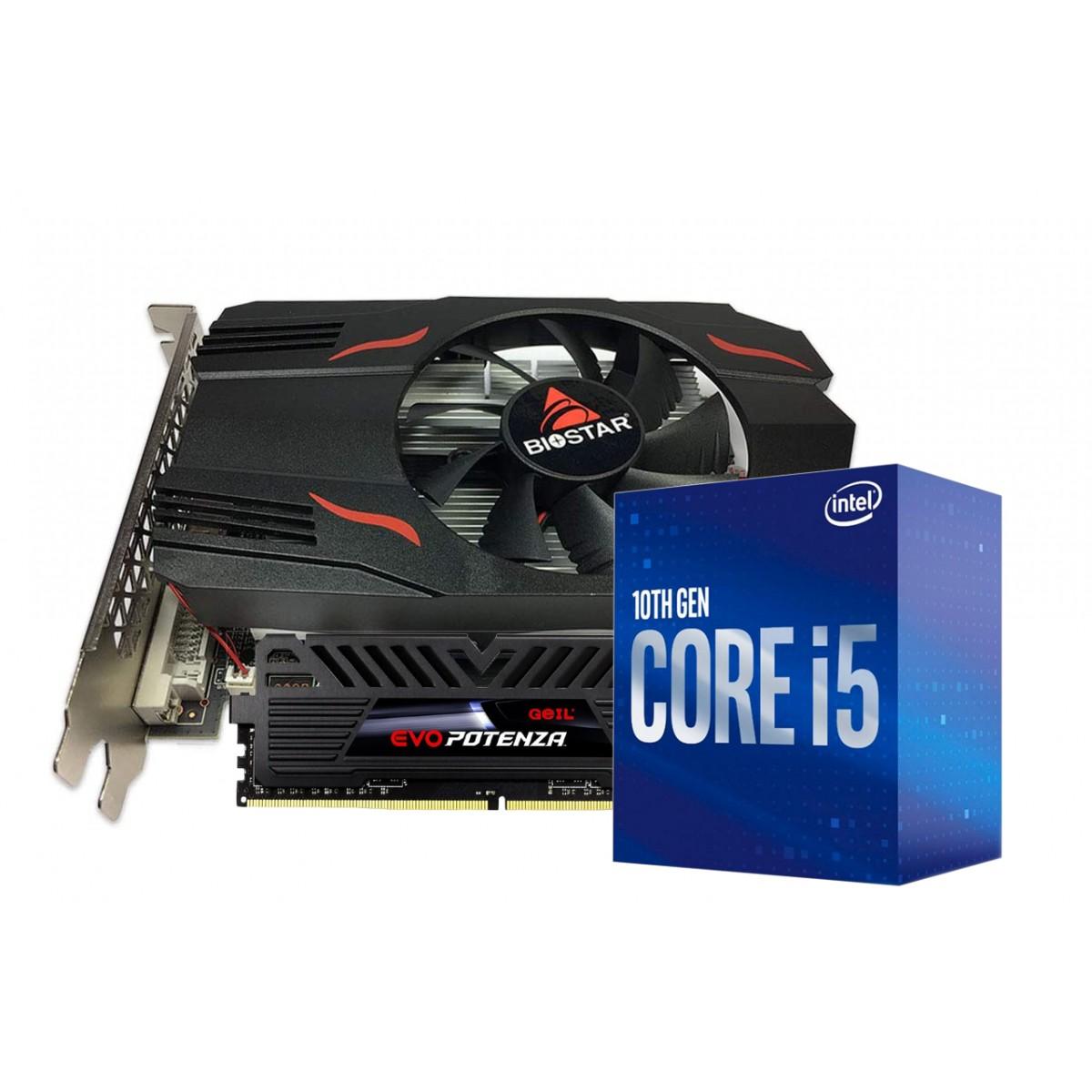 Kit Upgrade Biostar Radeon RX 550 2GB + Intel Core i5 10400F + Geil Evo Potenza 8GB 3000MHz