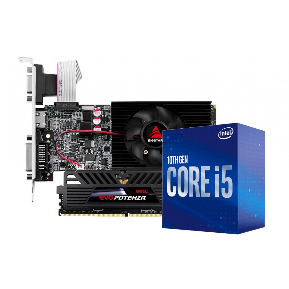 Kit Upgrade Biostar NVIDIA GeForce GT 710 2GB + Intel Core i5 10400F + Geil Evo Potenza 8GB 3000MHz