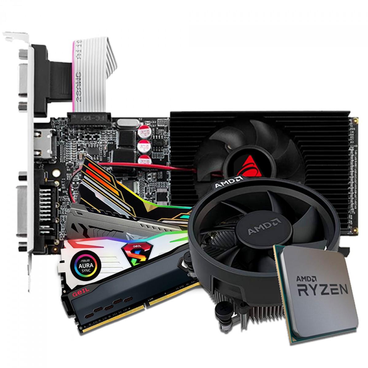 Kit Upgrade Biostar GeForce GT 610 + AMD Ryzen 5 3500 + Memória DDR4 16GB (2x8GB) 3000Mhz