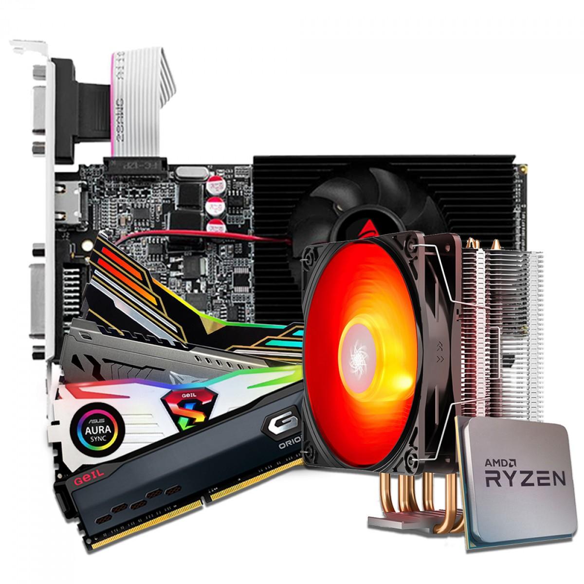 Kit Upgrade Biostar NVIDIA GeForce GT 710 + Ryzen 3 3300X +  Memória DDR4 16GB (2x8GB) 3000Mhz + Brinde Cooler