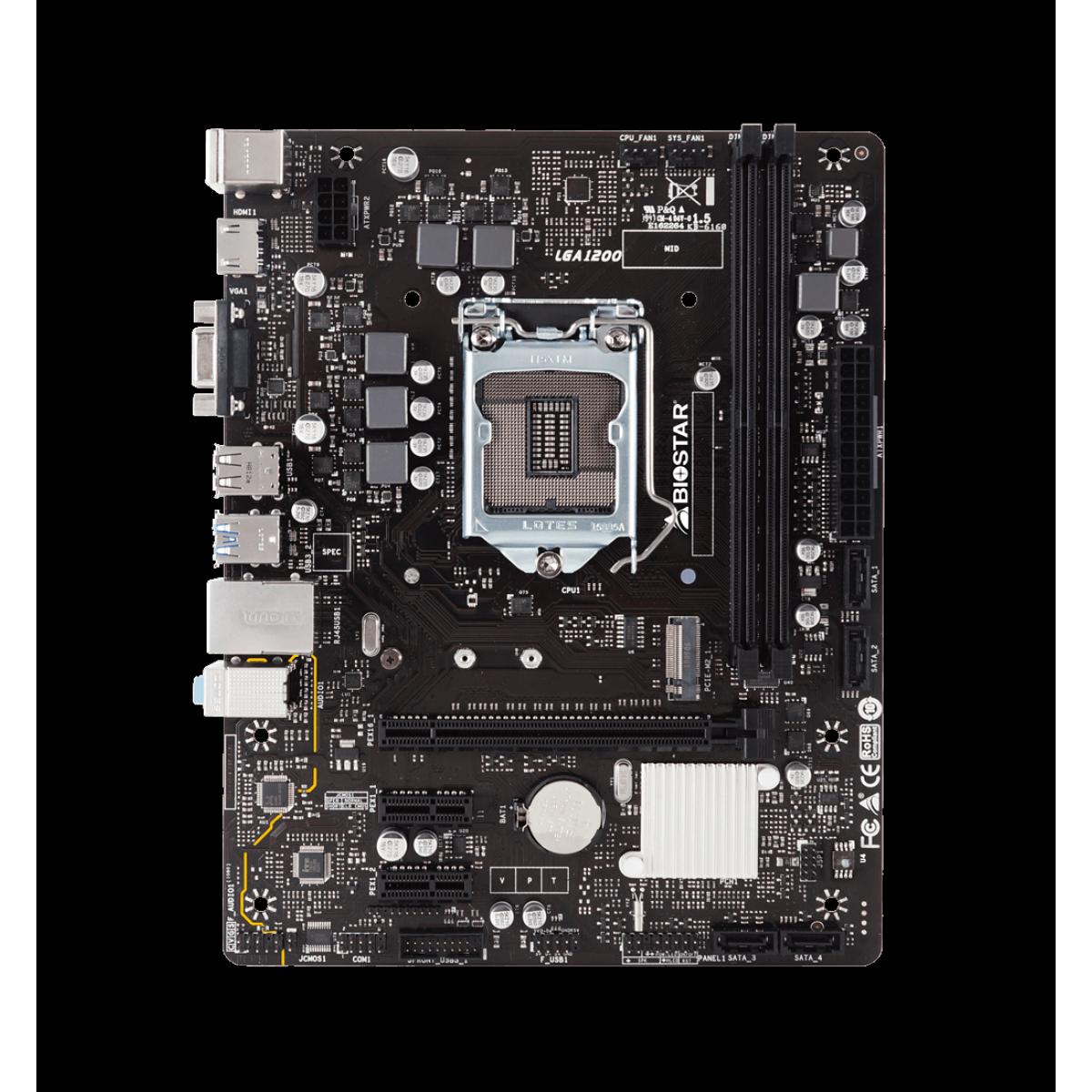 Kit Upgrade Biostar Radeon Rx 550 4GB + Intel Core i3 10105F + Biostar H410MH VER 6.0
