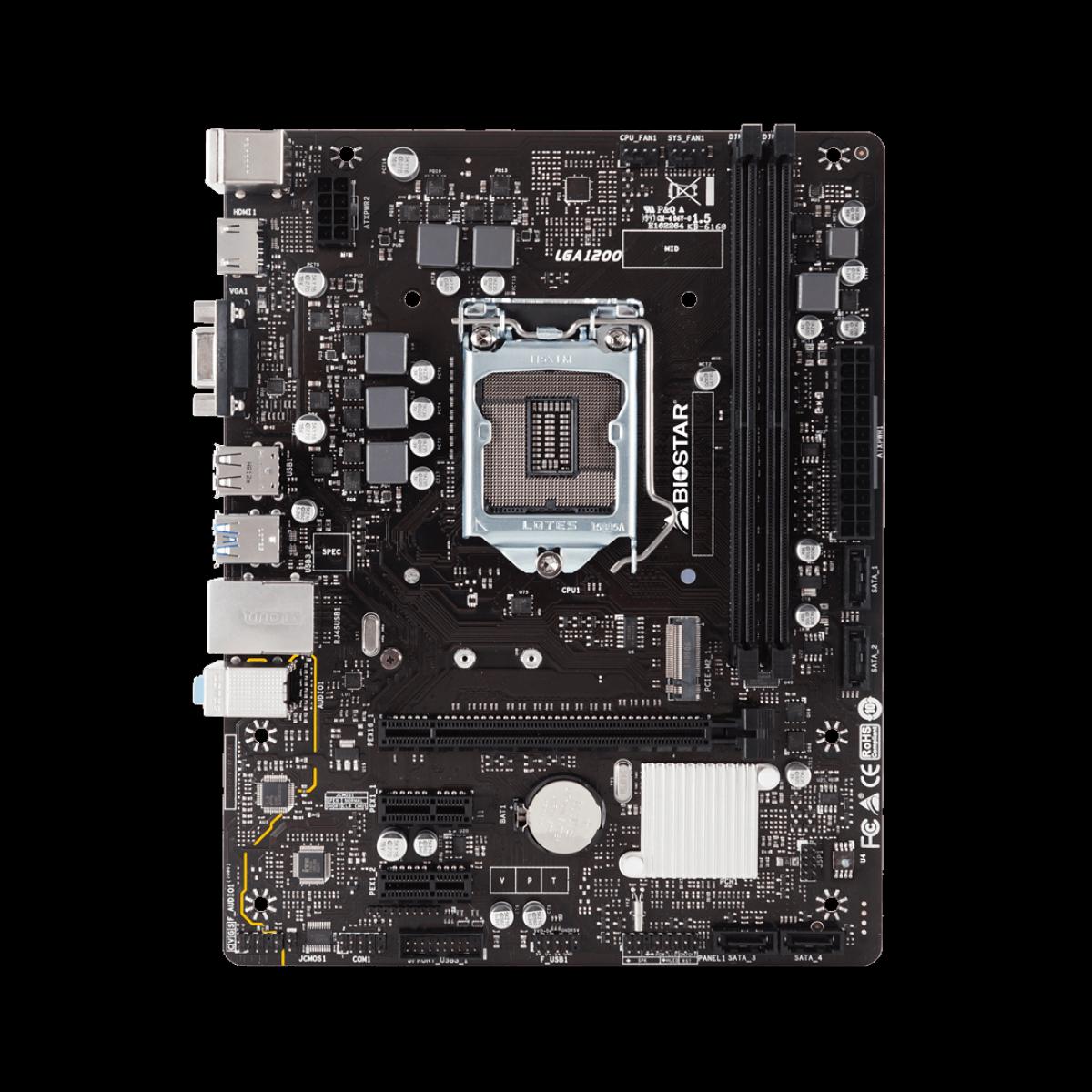 Kit Upgrade Biostar Radeon Rx 550 4GB +  Intel Core i5 10400F + Biostar H410MH VER 6.0