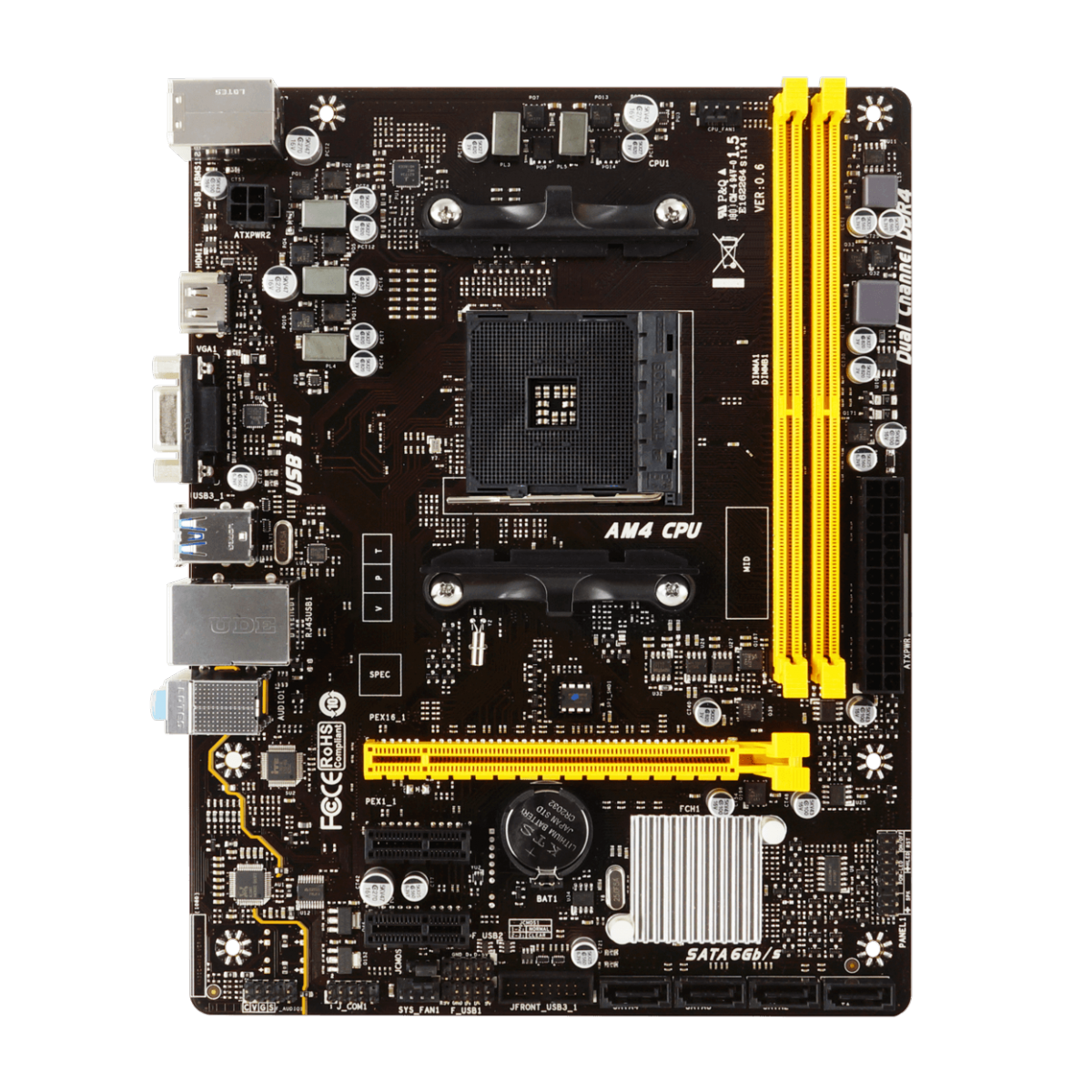 Kit Upgrade Biostar Radeon RX 550 2GB + AMD Ryzen 5 3500 + Biostar A320MH
