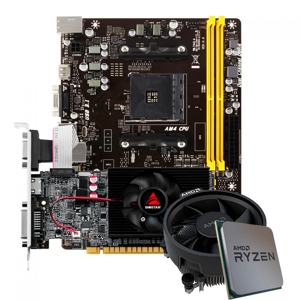 Kit Upgrade Biostar GeForce GT 610 + AMD Ryzen 5 3500 + Biostar A320MH