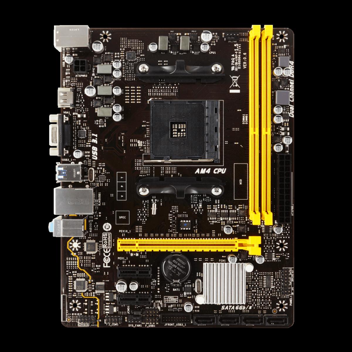 Kit Upgrade Biostar Radeon Rx 550 2GB + Ryzen 3 3300x + Biostar A320MH + Cooler de Brinde
