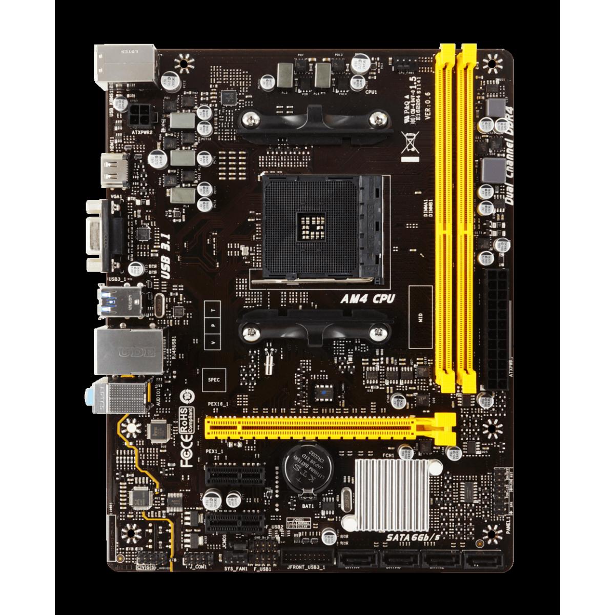 Kit Upgrade Biostar Geforce GT 610 + Ryzen 3 3300x + Biostar A320MH + Memória DDR4 16GB (2x8GB) 3000MHz + Cooler de Brinde