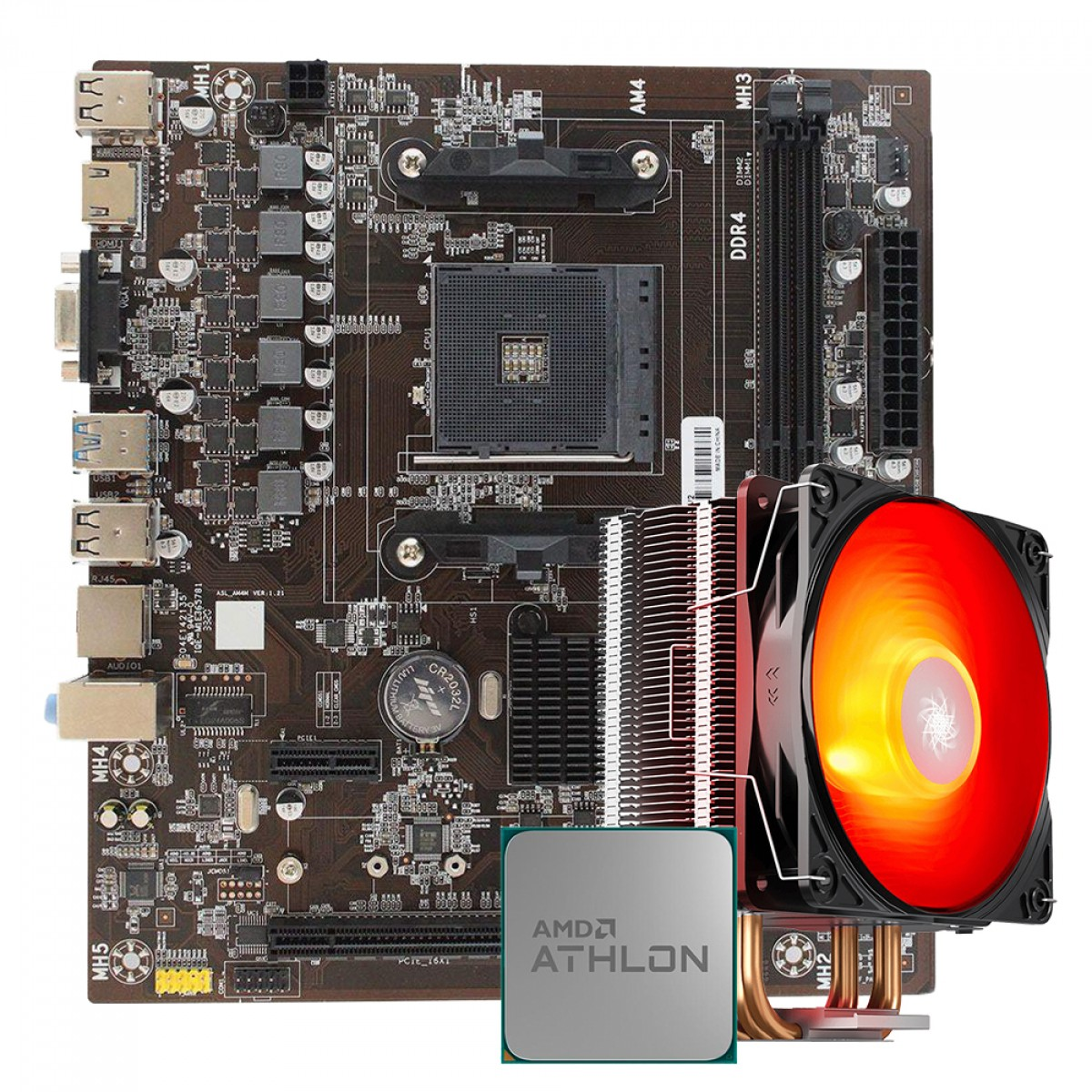 Kit Upgrade Athlon 200GE + AFox A320 + Brinde Cooler