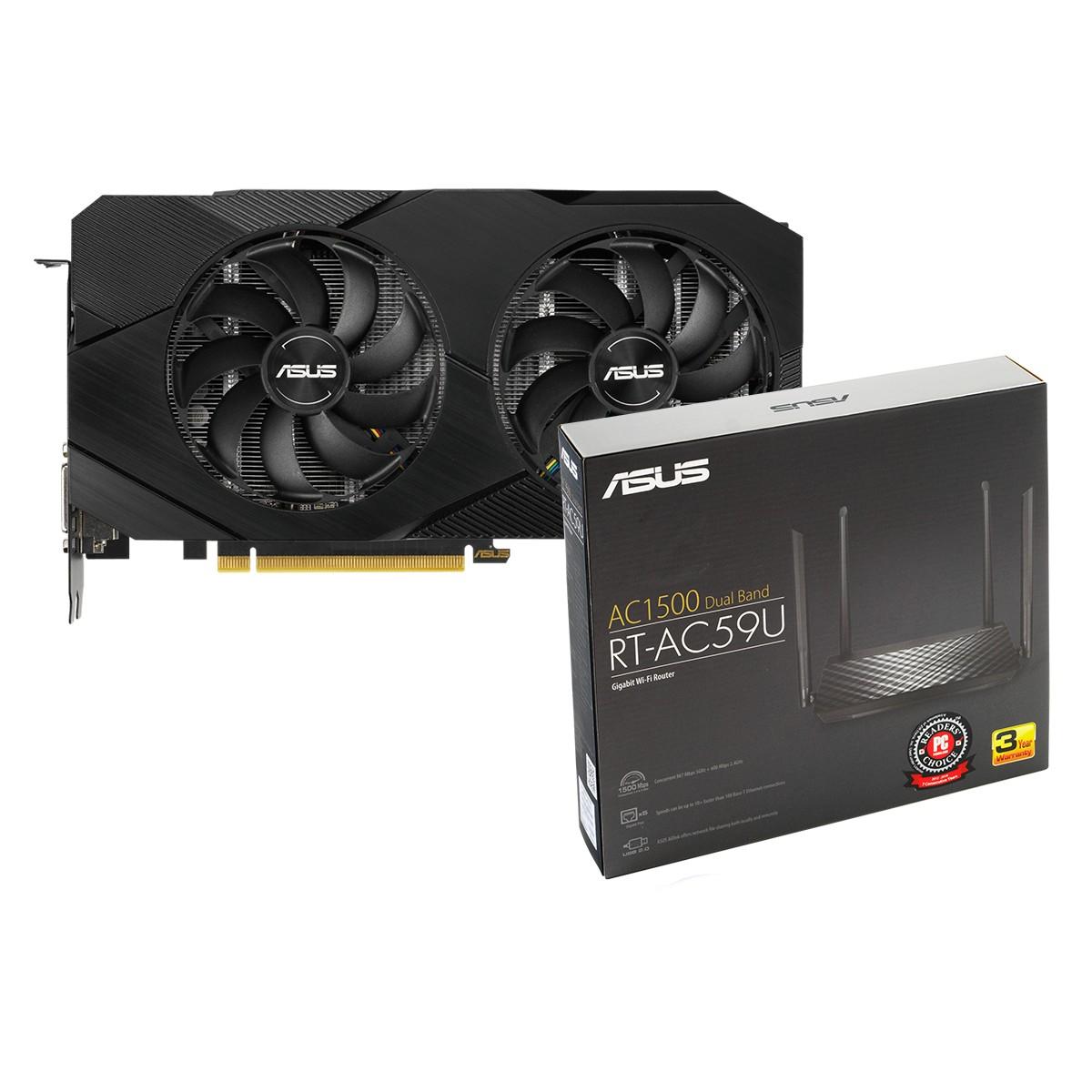 Kit Upgrade ASUS GeForce RTX 2060 OC EVO Dual + ASUS RT-AC59U